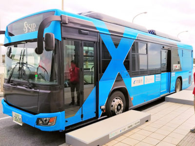 自動運転実証実験バス