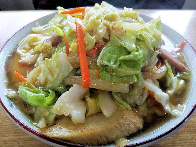 久松食堂の野菜そば