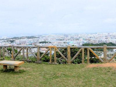 浦添城跡から宜野湾市、北谷町を望む