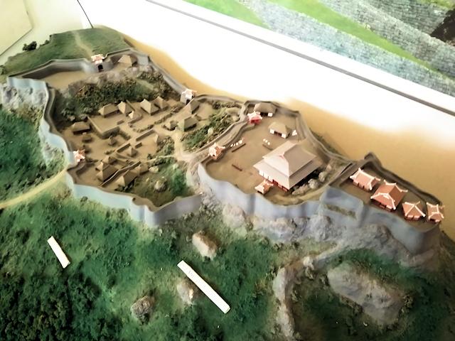 勝連城復元鳥瞰模型