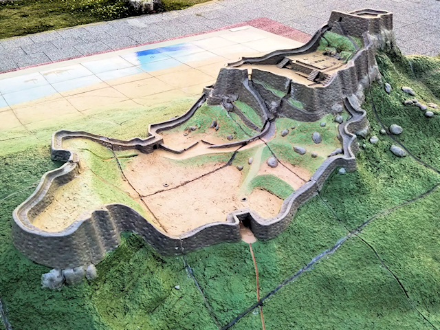 勝連城跡模型