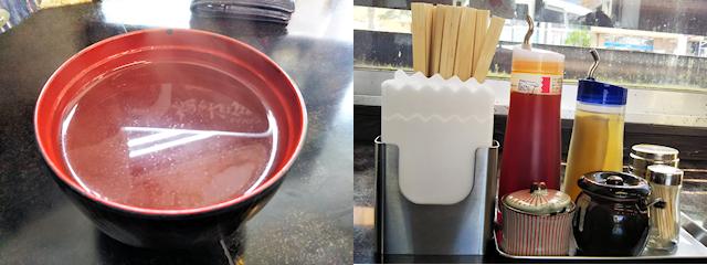 麺やKEIJIROかちゅー湯とテーブル調味料
