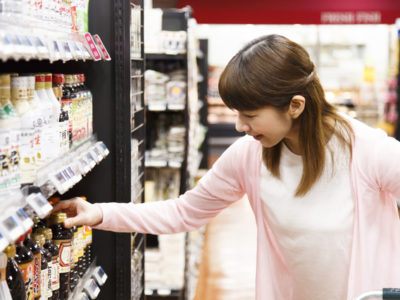 沖縄のスーパーでお買い物